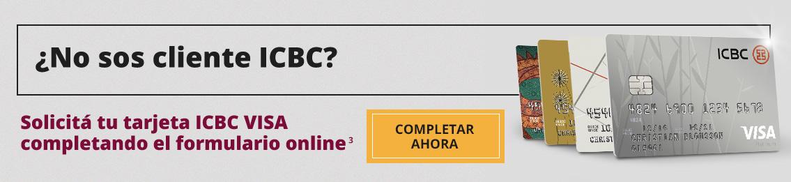 ¿No sos cliente del ICBC? Solicitá tu tarjeta completando el formulario online